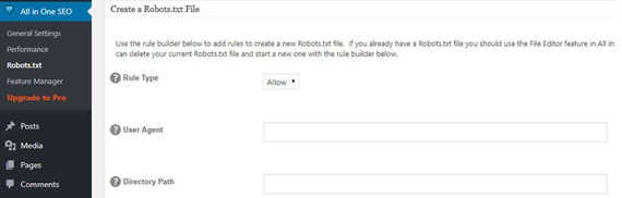 All in One plug-in robots.txt step 3