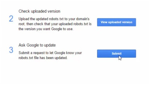 submit robots.txt to Google search console